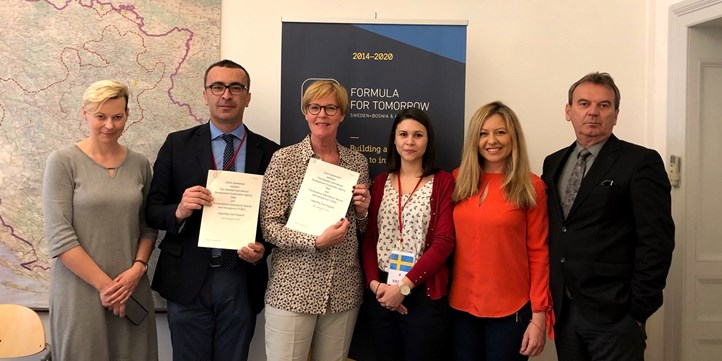 Sida and Transparency International BIH agreement