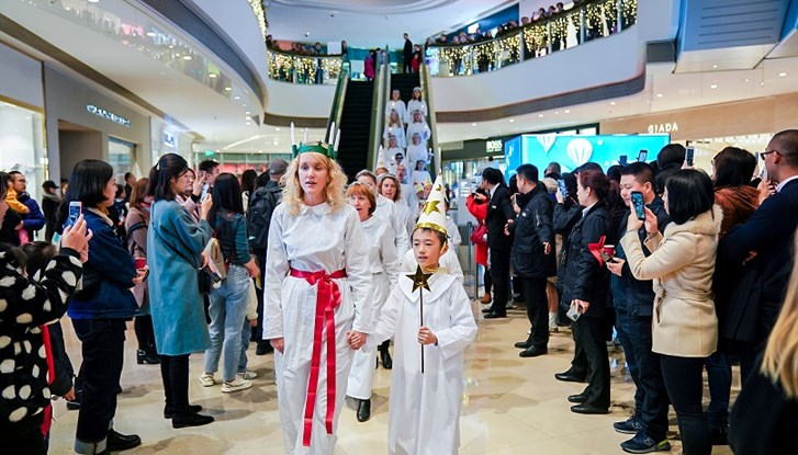 Lucia celebration in Shanghai